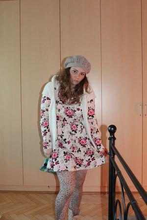 H&M dress - Zara Basic vest - Forever 21 H&M accessories