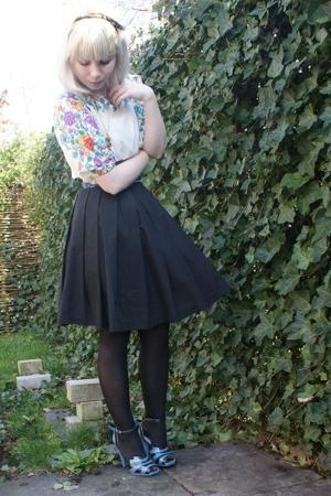 vintage shirt - Miss Sixty belt - selfmade skirt - Prada shoes - Ilovevintage ac