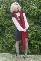 AMERICAN VINTAGE dress - Designer Remix blouse - Miss Sixty tights - dept scarf