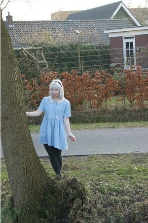 vintage dress - H&M tights - store in the neighboorhood shoes - gift accessories