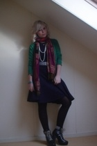 H&M sweater - Prada dress - actually from my mom scarf - Fornarina belt - H&M bo