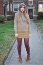 Buckled-deena-and-ozzy-boots-vintage-sweater-corduroy-ralph-lauren-skirt