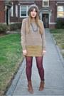 Buckled-deena-and-ozzy-boots-vintage-sweater-corduroy-ralph-lauren-skirt