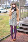 Tawny-platforms-kimchi-blue-shoes-light-purple-floral-forever21-dress