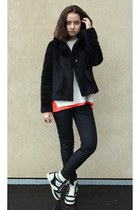 united colors of benetton coat - Mango sweater - River Island sneakers