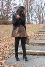 Black-forever21-jacket-black-marshalls-tights-gray-gap-scarf