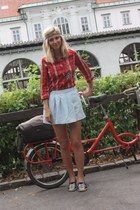 Zara skirt - Topshop shoes - Zara shirt - rayban sunglasses
