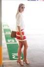 White-h-m-shirt-moon-bag-ray-ban-sunglasses-il-passo-heels-celine-skirt