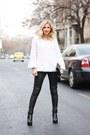Black-asos-boots-black-sparkles-zara-purse-white-irenka-blouse