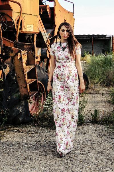 neutral Carmen Vlad dress