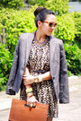 Black-tribal-sugarlips-dress-gray-classic-zara-blazer