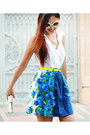 Blue-floral-nava-skirt-yellow-neon-nava-belt-ivory-plain-nava-top