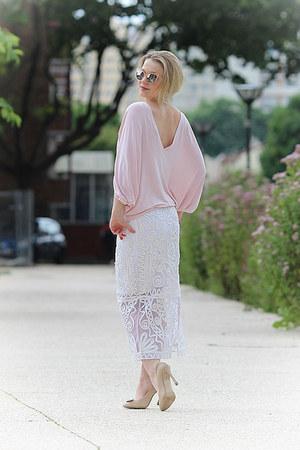 asos skirt - asos sunglasses - Apart blouse - Paolo Conte heels