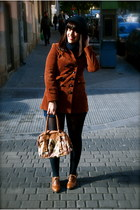 modcloth coat - vintage shorts - vintage hat - kling bag - Office shoes