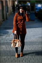modcloth coat - vintage shorts - vintage hat - kling bag - Office shoes