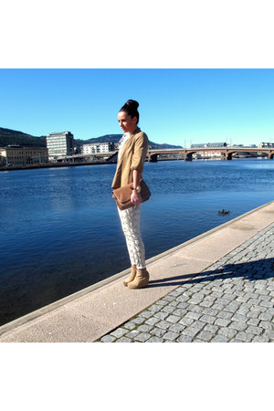 Mango leggings - Topshop boots - zarra blazer - Mango bag - meli melo watch