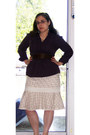 Dark-brown-kelly-katie-shoes-eggshell-express-dress-deep-purple-elle-shirt-