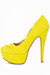 yellow neon pumps HAUTE & REBELLIOUS heels
