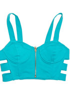 turquoise blue cutout HAUTE & REBELLIOUS top