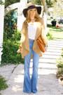 Light-blue-flare-denim-bebe-flare-denim-jeans