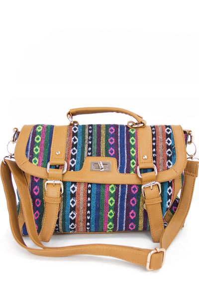camel tribal print HAUTE & REBELLIOUS bag