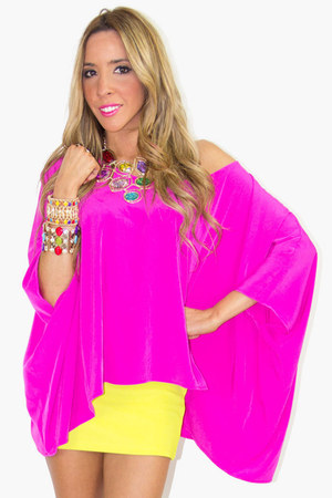 hot pink tunic HAUTE & REEBELLIOUS blouse