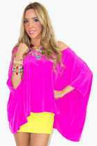 hot pink tunic HAUTE & REEBELLIOUS blouse