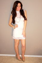 white Forever 21 dress - gold collection of years accessories