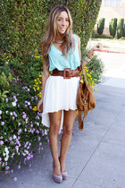 aquamarine HAUTE & REBELLIOUS blouse - off white HAUTE & REBELLIOUS shoes