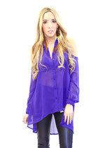 blue cutout HAUTE & REBELLIOUS blouse