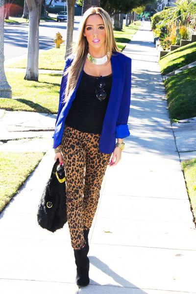 blue HAUTE & REBELLIOUS blazer - black HAUTE & REBELLIOUS bag