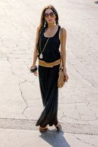 black H&M dress - black Forever 21 purse - brown Steve Madden