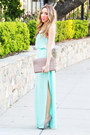 Aquamarine-mint-haute-rebellious-dress-camel-clutch-haute-rebellious-bag