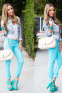 Sky-blue-haute-rebellious-pants-aquamarine-haute-rebellious-heels