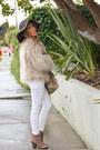 Tan-zara-coat-dark-brown-haute-rebellious-hat-beige-haute-rebellious-bag