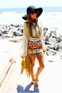 orange HAUTE & REBELLIOUS skirt - mustard fringed HAUTE & REBELLIOUS bag