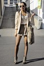 Olive-green-shoes-tan-h-m-blazer-white-forever-21-top-dark-khaki-shorts-