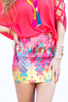 tribal print HAUTE & REBELLIOUS skirt