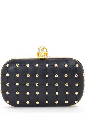 black skull clutch HAUTE & REBELLIOUS bag
