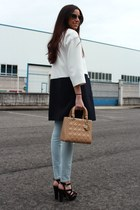 Zara coat - Zara jeans - dior bag - Miu Miu sunglasses
