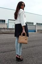 Zara coat - Zara jeans - dior bag - Miu Miu sunglasses
