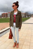 coach bag - Hector Riccione boots - Zara jeans - Bershka jacket - Zara shirt