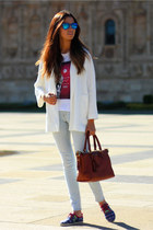 Zara blazer - Mimmeko shoes - ray-ban sunglasses