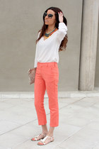 Bimba y Lola necklace - Miu Miu sunglasses - Zara pants - Max Mara sandals