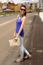 Zara shirt - Zara jeans - ray-ban sunglasses - exe sandals