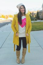 mustard coat Lulus coat - light brown forever young shoes boots