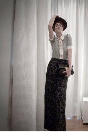 Zara pants - Zara hat - Gucci bag - Marc by Marc Jacobs top