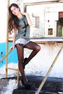 Dark-khaki-forever-21-shirt-charcoal-gray-american-eagle-tights
