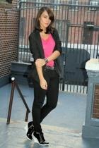 H&M blazer - Express t-shirt - BDG jeans - BCBGgirls