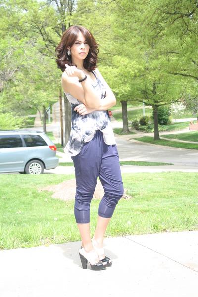 lux uo pants - Zara top - BCBGgirls shoes